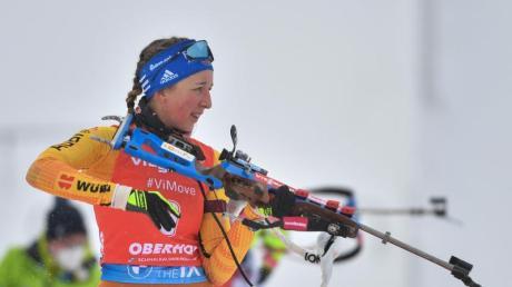 Franziska Preuß fährt als Hoffnungsträgerin zur Biathlon-WM.