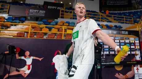Ein trauriger Abgang: Sebastian Firnhaber gehört zu den jungen deutschen Spielern, die bei der WM in Ägypten die Erwartungen nur teilweise erfüllen konnten.
