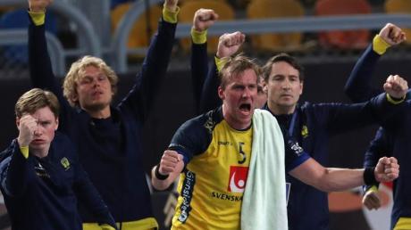 Gehen optimistisch in das WM-Halbfinale gegen Frankreich: Schwedens Handball-Nationalspieler.