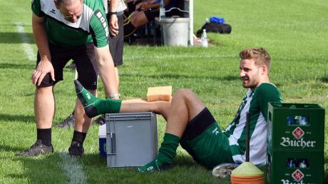 Wird in der nächsten Saison nicht mehr für den FCG auflaufen: David Anzenhofer (rechts) arbeitet nach seinem Kreuzbandriss an einem Comeback, das er aber beim TSV Landsberg geben will.