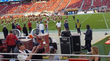 2018 besuchte Football-Fan Simon Gebele ein Preseason-Heimspiel der San Francisco 49ers.