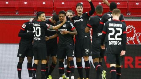 Gleich fünfmal durften die Bayer-Profis gegen Stuttgart jubeln.