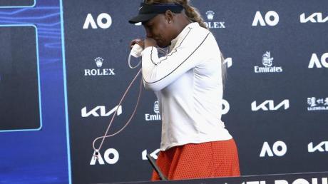 Serena Williams zeigte bei der Pressekonferenz nach ihrer Niederlage Emotionen.
