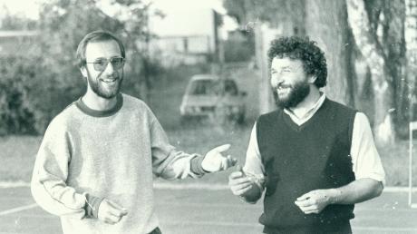 Zwei bärenstarke Typen: der Gründer der LG Zusam, Josef Caesar (rechts), im Jahr 1984 mit seinem Nachfolger Werner Friedel (links).