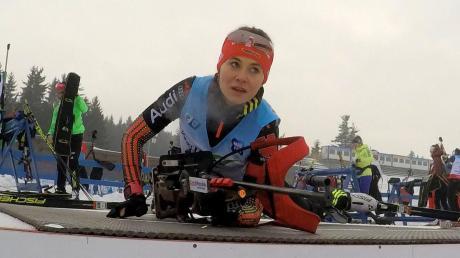 Nur im Training konnte sich Marina Sauter in dieser Saison auf das Liegend-Schießen konzentrieren. Alle ihre Starts im Alpencup oder Deutschland-Pokal wurden wegen der Corona-Pandemie abgesagt.