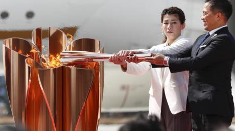 Der olympische Fackellauf startet am Donnerstag.