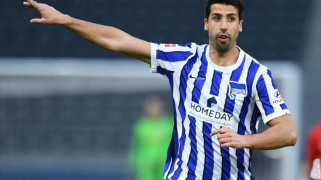 Kennt sich aus mit Derby-Stress: Sami Khedira. Ob er beim Berlin-Derby eingesetzt wird ist noch offen.