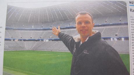 Der Wertinger Alexander Hosp wurde für die Fußball-WM 2006 in Deutschland als einer von 15.000 ehrenamtlichen Volunteers auserkoren. Sein Einsatzort wurde die Allianz Arena in München.