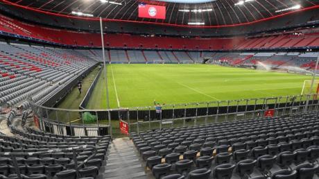 Blick in die Allianz-Arena. Hier sollen die drei EM-Gruppenspiele der deutschen Nationalmannschaft stattfinden.