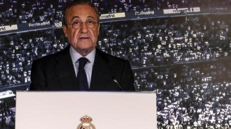 Florentino Perez, Präsident von Real Madrid und der Super League, sieht sich als Retter des Fußballs.
