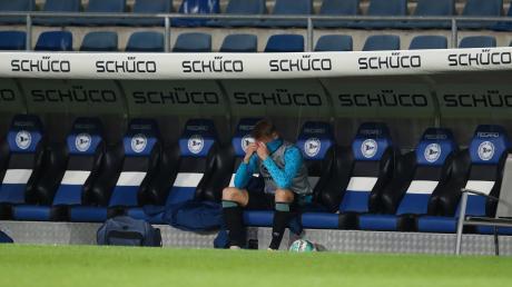 Schalkes Abwehrspieler Timo Becker nach dem Schlusspfiff.