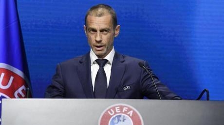 Erneuerte seine Warnung an Real Madrid und Co.:UEFA-Präsident Aleksander Ceferin.