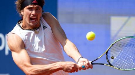 Hat in München das Viertelfinale erreicht: Alexander Zverev in Aktion.