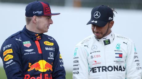Max Verstappen (links) ist der große Herausforderer von Lewis Hamilton.