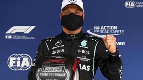 Hamilton-Teamkollege Valtteri Bottas sicherte sich beim Großen Preis von Portugal die Pole.