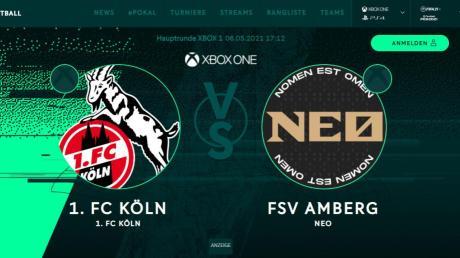 DFB-Pokal-Hauptrunde, 1. FC Köln gegen FSV Amberg: Diese Paarung ist in der virtuellen Fußballwelt möglich.