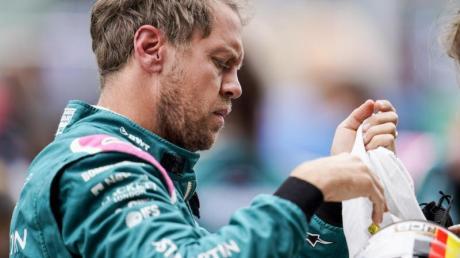 Fuhr auch in Barcelona in seinem Aston Martin wieder hinterher: SebastianVettel.