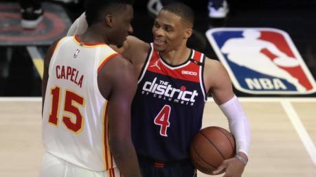 Bekam nach seinem NBA-Rekord gegen Atlanta auch Lob vom Gegner: Wizards-Star Russell Westbrook.