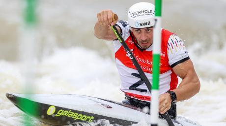 Voller Fokus auf Olympia: Sideris Tasiadis hat sich zum dritten Mal die Teilnahme an Olympischen Spielen gesichert. 2016 in London hat der Canadierfahrer die Silbermedaille gewonnen.