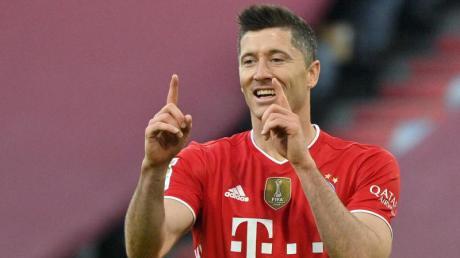 Braucht noch einen Treffer, um die 40-Tore-Marke zu brechen: Bayern-Torjäger Robert Lewandowski.