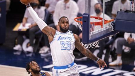 Lakers-Superstar LeBron James stand nach einer überstandenen Knöchelverletzung wieder auf dem Parkett.