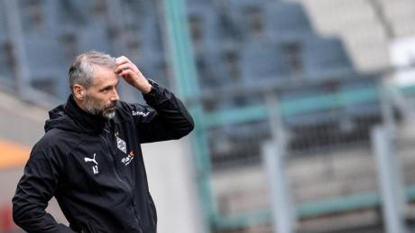 Musste in seinem letzten Heimspiel als Gladbach-Coach eine Pleite hinnehmen.