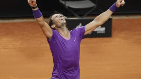 Rafael Nadal hat das Masters in Rom zum zehnten Mal gewonnen.