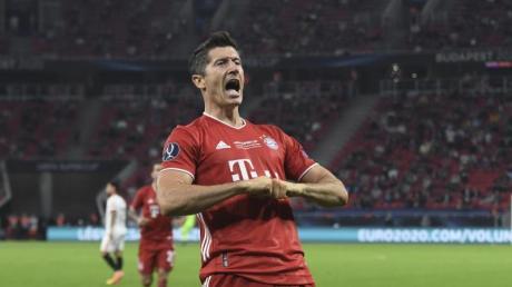 Robert Lewandowski erzielte bisher 40 Tore in dieser Bundesligasaison für den FC Bayern.