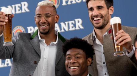 München verteidigt künftig ohne Jérôme Boateng, David Alaba und Javi Martínez (l-r).