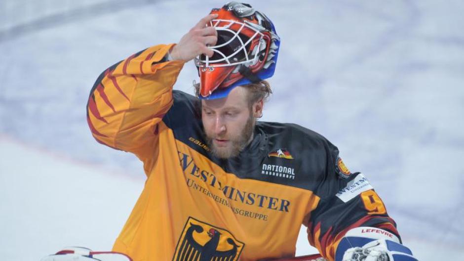 Il portiere Felix Bruckmann fa parte della rosa della Germania per la Coppa del Mondo di hockey su ghiaccio 2021.