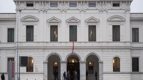 Blick auf das Bundesstrafgericht in Bellinzona in der Schweiz.