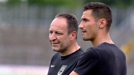Kann Trainer Holger Bachthaler (links) ihn im Pokalfinale am Samstag gebrauchen? Für Florian Krebs wäre ein Einsatz der krönende Abschluss seiner Profikarriere.