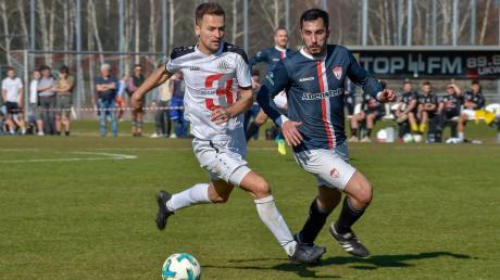 Auf welche Teams treffen Landsbergs Spielertrainer Muriz Salemovic (links) und seine Mannschaft, wenn die Bayernliga-Saison beginnt? Das hat der Verband jetzt bekannt gegeben.