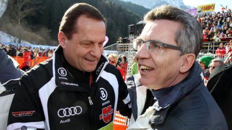 Alfons Hörmann (links) und Thomas de Maizière (unser Archivbild entstand 2011 bei der Alpin-WM in Garmisch-Partenkirchen) müssen die Krise beim Deutschen Olympischen Sportbund aufarbeiten.