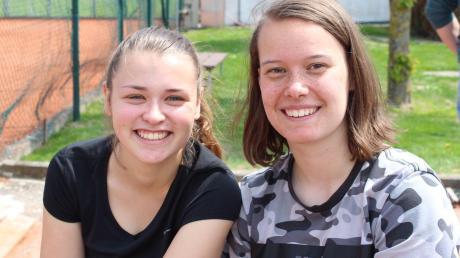 Patricia Dirlmeier und Lisa Mayer waren sowohl im Einzel als auch zusammen im Doppel für den TSV Offingen erfolgreich.