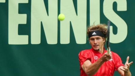 Musste sich in Halle anstrengen, um in die nächste Runde zu kommen: Alexander Zverev.