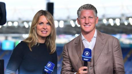 Jessy Wellmer  und Bastian Schweinsteiger sind das EM-Duo der ARD.