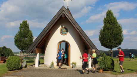 An dieser Kapelle könnten die Sportler bei der Etappe in Ziemetshausen vorbeikommen.