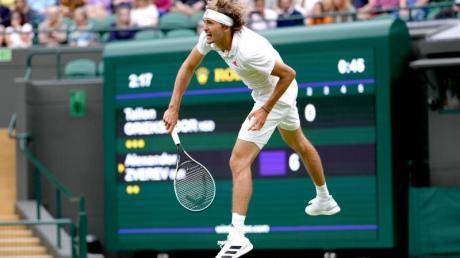 Hatte bei seinem Erstrunden-Match in Wimbledon keine Probleme: Alexander Zverev.
