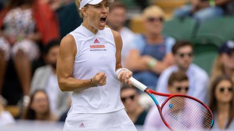 Das Publikum gibt ihr Kraft: Angelique Kerber feiert einen Sieg in Wimbledon.