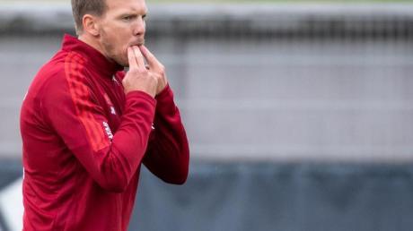 Der neue Coach Julian Nagelsmann ist mit dem Trainingsstart beim FC Bayern «ganz zufrieden».