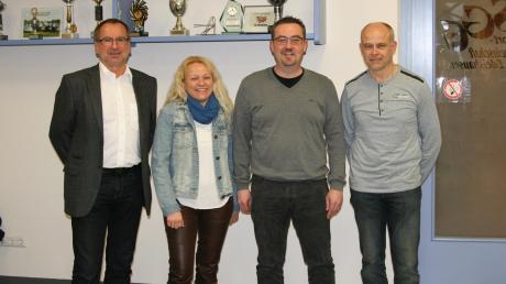 Der Vorstand der SG Edelshausen, die künftig in der B-Klasse Neuburg antritt: Oswald Prummer (von links), Alexandra Berger, Friedrich Hora und Hubert Mayr.