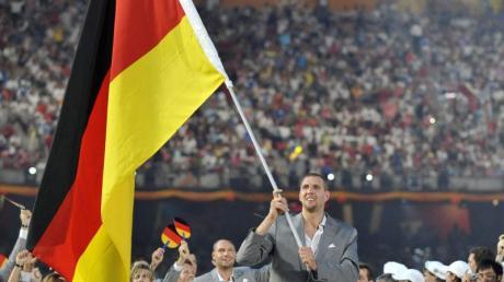 Basketballstar Dirk Nowitzki war 2008 der deutsche Fahnenträger.