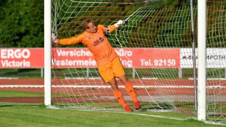 Der Meringer Torwart Julian Baumann kassierte gegen den FV Illertissen II zwei Tore. Wieder konnte der MSV nicht gegen die Reserve gewinnen.