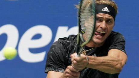 Hat mit dem Sieg gegen Sam Querrey die zweite Runde der USOpen erreicht: Alexander Zverev.