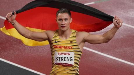 Lief über 200 Meter zu Silber: Felix Streng.
