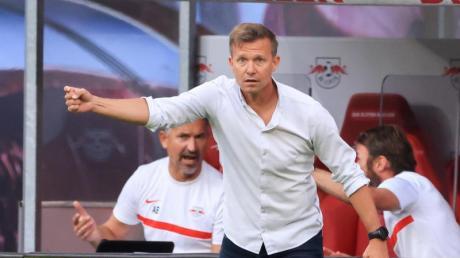 Kann bei Man City personell fast aus dem Vollem schöpfen:Leipzig-Coach Jesse Marsch.