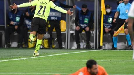 Donyell Malen bescherte Borussia Dortmund den Sieg gegen Sporting Lissabon.