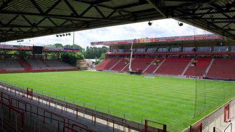 Das Stadion des 1. FC Union Berlin, Alte Försterei. Für das Spiel gegen den VfL Wolfsburg sollen 18.000 Zuschauer kommen.