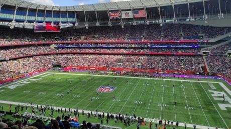 Volle Hütte im Tottenham Hotspur Stadium: Über 60.000 Fans haben das Spiel zwischen den Atlanta Falcons und den New York Jets angeschaut.